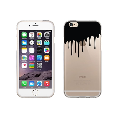 OTM Essentials Iconic Prints Phone Case for Use w/iPhone 6/6S; Black Drip, Clear (IP6V1CLR-ICN-02)