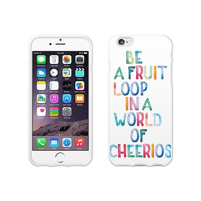 OTM Essentials Quotes Prints White Phone Case for Use with iPhone 6/6S; Fruit Loop (IP6V1WG-QTE-03)