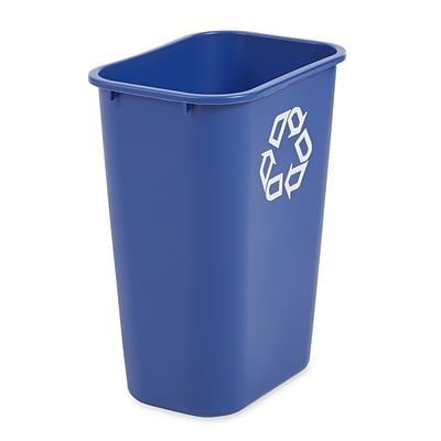 Rubbermaid Recycling Bin, Blue, 10 gal.