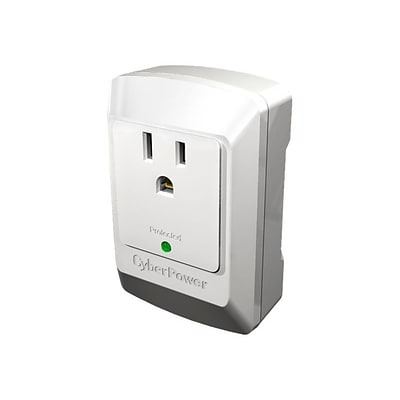 Cyberpower® CSB100W 1-Outlet 900 Joule Essential Surge Protector