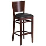 Lacey Solid-Back Restaurant Barstool Walnut