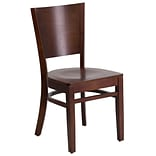Lacey Solid Back Restaurant Chair Walnut Fr
