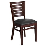 Darby Slat-Back Restaurant Chair Walnut Fin