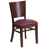 Lacey Solid-Back Restaurant Chair Walnut w/