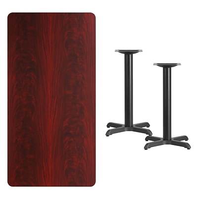 Flash Furniture 30x60 Rectangular Mahogany Laminate Table Top w/22 Table Height Bases