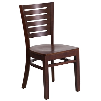 Flash Furniture Darby Series Slat Back Restaurant Chair, Walnut Wood, XUDGW018WAL
