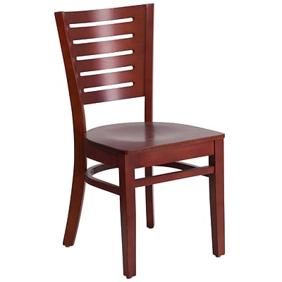 Flash Furniture Darby Series Slat Back Restaurant Chair, Mahogany Wood Frame Finish, 2bx XUDGW018MAH