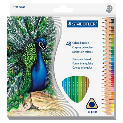 Staedtler Tradition Color Pencil Set, 2.9 mm Lead Size, Assorted Lead, Wood Barrel, 48 / Box