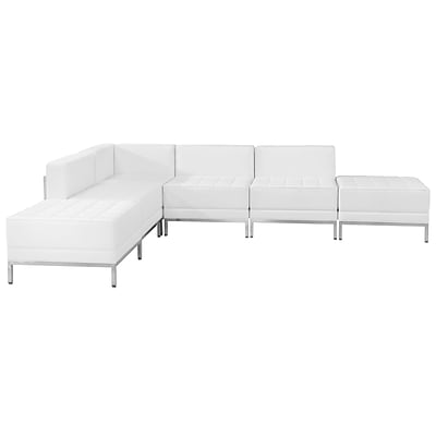 Flash Furniture Hercules Imagination Series Leather Sectional Configuration, 6 Pieces,