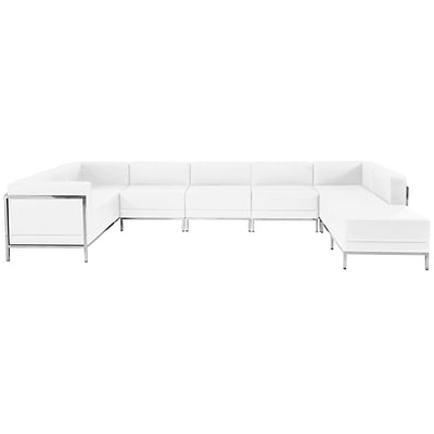 Flash Furniture Hercules Imagination Series Leather U-Shape Sectional Configuration; 7 Pieces,