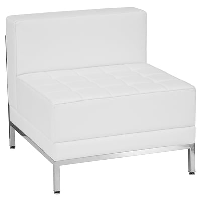 Flash Furniture  Hercules Imagination Series Contemporary Leather Middle Chair, White ZBIMAGMIDDLEWH