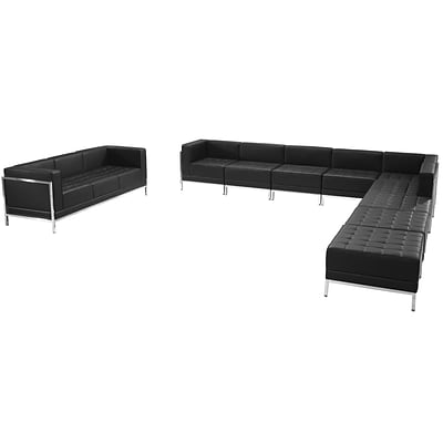 Flash Furniture Hercules Imagination Series Leather Sectional and Sofa Set; 10 Pieces,
