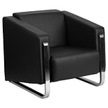 Gallant Leather Chair Blk w/Stainless Steel