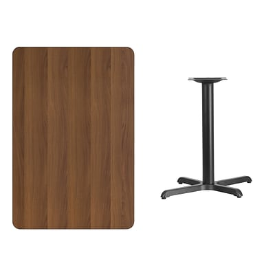 Flash Furniture 30x45 Rectangular Laminate Table Top, Walnut, 22x30 Table Height Base