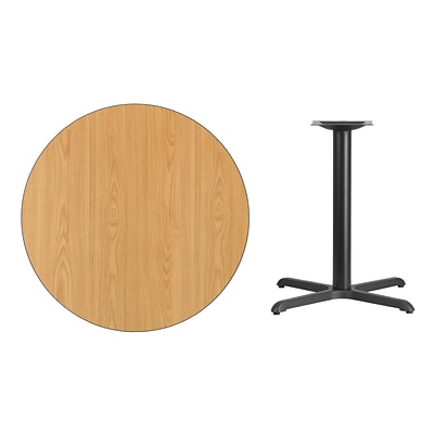 Flash Furniture 36 Round Laminate Table Top, Natural w/30x30 Table-Height Base (XURD36NTT3030)