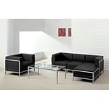 Imagination Leather Sectional & Chair 5pc