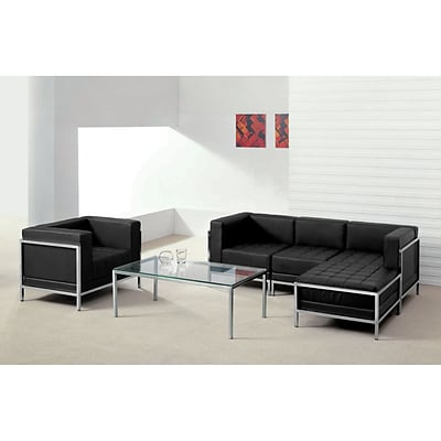 Flash Furniture  Hercules Imagination Series Leather Sectional & Chair, 5 Pieces, Blk (ZBIMAGSET12)
