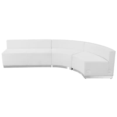 Flash Furniture  Hercules Alon Series Leather Reception Configuration, White, 3 Pieces (ZB803750SWH)
