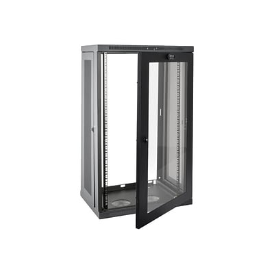 Tripp Lite SmartRack 21U Wall Mount Low-Profile Rack Enclosure Cabinet with Acrylic Window; Black (SRW21UG)