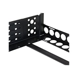 StarTech 2U Fixed Adjustable Depth Universal Server Rack Rail; Black (UNIRAILS2U)