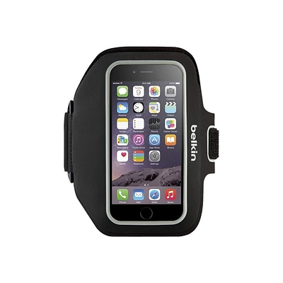 Belkin ™ Sport-Fit Plus Armband Carrying Case for iPhone 6/6s Plus; Blacktop (F8W610)