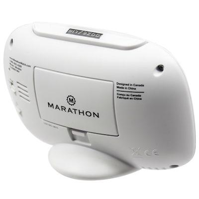 Marathon Watch Company Alarm Clock; White