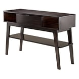 Winsome Monty Console Table; Smoke Finish