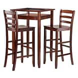 Pub Table w/2 30 Ladder Back Stools Walnut