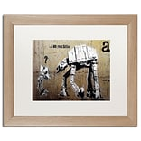 Trademark Fine Art Your Father by Banksy 16 x 20 White Matted Wood Frame (ALI0816-T1620MF)