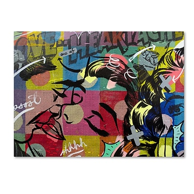 Trademark Fine Art Fearless Heartache by Dan Monteavaro 18 x 24 Canvas Art (ALI0954-C1824GG)