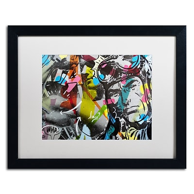 Trademark Fine Art Strongman by Dan Monteavaro 16 x 20 White Matted Black Frame (ALI0961-B1620MF)