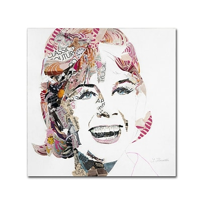 Trademark Fine Art Doris by Ines Kouidis 14 x 14 Canvas Art (ALI0982-C1414GG)