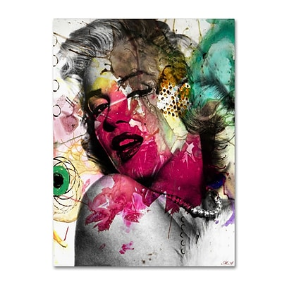 Trademark Fine Art Marilyn Monroe II by Mark Ashkenazi 18 x 24 Canvas Art (ALI1008-C1824GG)