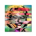 Trademark Fine Art Marilyn Monroe V by Mark Ashkenazi 18 x 18 Canvas Art (ALI1011-C1818GG)