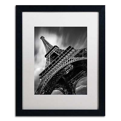 Trademark Fine Art Eiffel Tower Study II by Moises Levy 16 x 20 White Matted Black Frame (ALI1056-B1620MF)