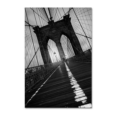 Trademark Fine Art Brooklyn Bridge Study I by Moises Levy 22 x 32 Canvas Art (ALI1057-C2232GG)