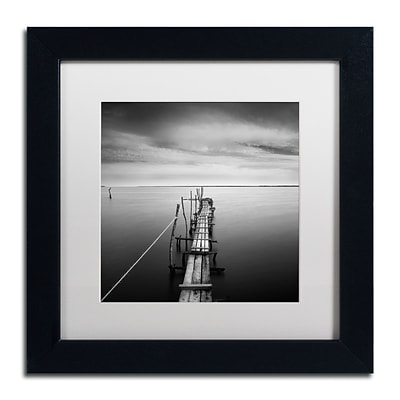 Trademark Fine Art Direction by Moises Levy 11 x 11 White Matted Black Frame (ALI1058-B1111MF)