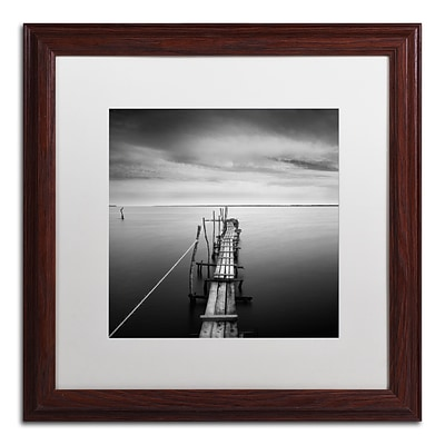 Trademark Fine Art Direction by Moises Levy 16 x 16 White Matted Wood Frame (ALI1058-W1616MF)