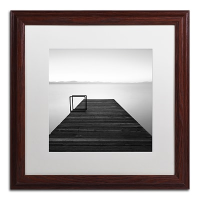 Trademark Fine Art Cube by Moises Levy 16 x 16 White Matted Wood Frame (ALI1061-W1616MF)