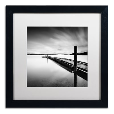 Trademark Fine Art Stand By by Moises Levy 16 x 16 White Matted Black Frame (ALI1063-B1616MF)