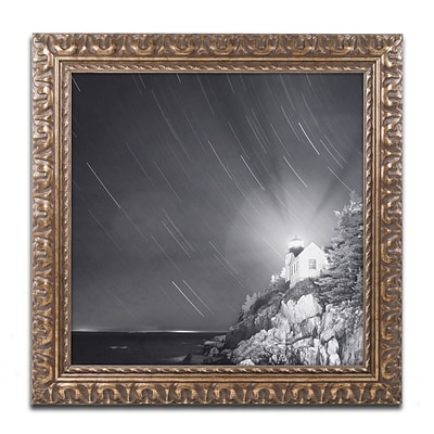 Trademark Fine Art Bass Harbor Sky by Moises Levy 16 x 16 Ornate Frame (ALI1064-G1616F)