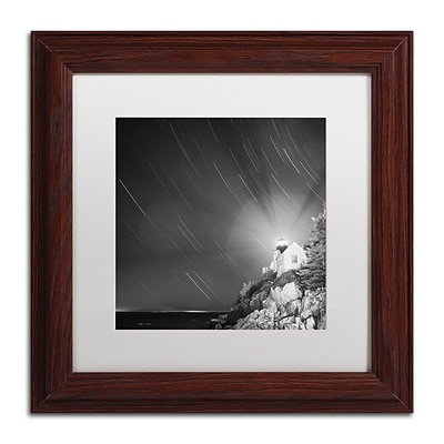 Trademark Fine Art Bass Harbor Sky by Moises Levy 11 x 11 White Matted Wood Frame (ALI1064-W1111MF)