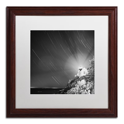 Trademark Fine Art Bass Harbor Sky by Moises Levy 16 x 16 White Matted Wood Frame (ALI1064-W1616MF)