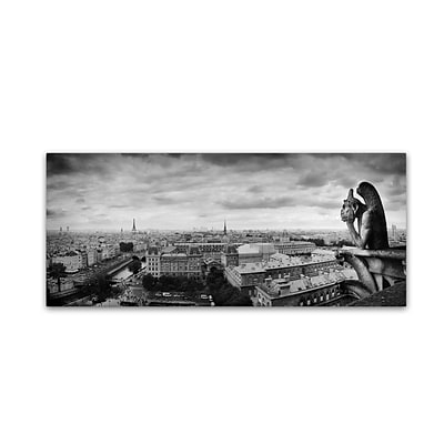 Trademark Fine Art Boring in Paris by Moises Levy 20 x 47 Canvas Art (ALI1068-C2047GG)
