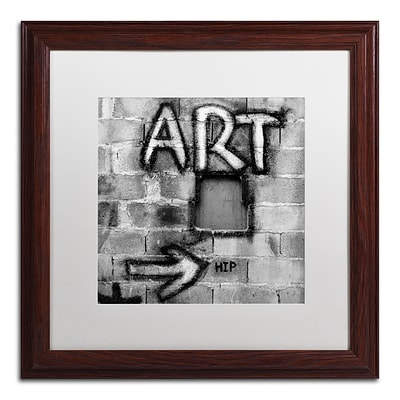Trademark Fine Art Art by Moises Levy 16 x 16 White Matted Wood Frame (ALI1072-W1616MF)