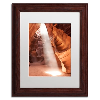 Trademark Fine Art Illumination I by Moises Levy 11 x 14 White Matted Wood Frame (ALI1078-W1114MF)