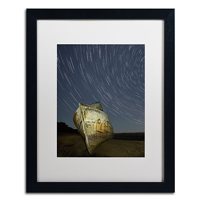 Trademark Fine Art Point Reyes II by Moises Levy 16 x 20 White Matted Black Frame (ALI1115-B1620MF)