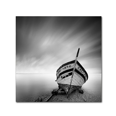 Trademark Fine Art Boat I by Moises Levy 18 x 18 Canvas Art (ALI1120-C1818GG)