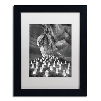 Trademark Fine Art Candle Canyon II by Moises Levy 11 x 14 White Matted Black Frame (ALI1128-B1114MF)