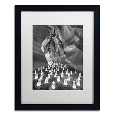 Trademark Fine Art Candle Canyon II by Moises Levy 16 x 20 White Matted Black Frame (ALI1128-B1620MF)